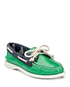 """Sperry """"A/O"""" 2-Eye Patent Boat Shoes"""