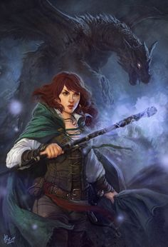 Ladies of the Harem, please welcome Harem Lady Lennie Freeman, Lady #18. Her Harem name is Aoife (Ee -fa) Known as the greatest woman warrior in the world, Aoife was the mother of Cuchulainn's (read the legend) only son, Connlach. Her companion is a female dragon, Kira - means dark girl in Gaelic) and the staff is Nuadhu's Fire (based on a famous Celtic mythological weapon.) Welcome aboard, Lady!   (shadow of the dragon by dleoblack)