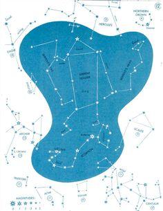 1966 constellation star chart original vintage sky map celestial bookplate - no 12 - scales scorpion hercules. $15.00, via Etsy.