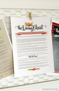 Free Printables, The Living Christ Printables