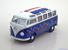 1:24 Triple 9 VW Bulli T1 Samba Holland 1962 blue/white in Modellbau, Auto…