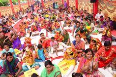 301 #disabled girls worshiped on #Navratri #ashtmi along with cultural programs at Narayan Seva Sansthan #NGO. www.narayanseva.org