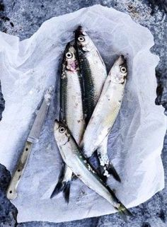 Fresh Sardines...always reminds me of casual dinners in Antibes