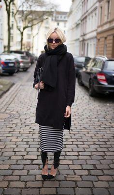 Lisa Rvd - Striped Knit dress