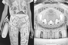 KTZ Spring 2013 // Castle of Sammezzano Leccio in Reggello by Dan Raven work by Bianca Luini Fashion Images, Fashion Details, Fashion Art, High Fashion, Fashion Show, Fashion Design, Mode Inspiration, Design Inspiration, Fashion Inspiration