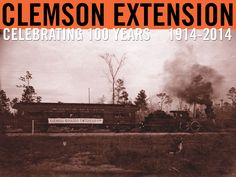The Clemson Extension train. Image courtesy of Clemson University Special Collections. #ClemsonExt100