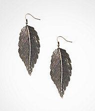 Love my new leaf drop earrings