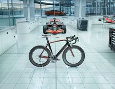 If I was obsessed by road bikes... this would have to be one to check out... S-Works + McLaren Venge seen here at the McLaren Technology Centre, where they build both F1 and their road cars side by side in a state-of-the-art facility