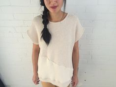 NEW Short sleeved sweater by LittleHousesClothing on Etsy