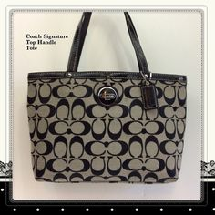 Coach Signatur Top Handle Tote F44610. Starting at $9