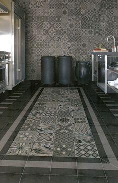 Dekor Wand-Bodenfl. 20 x 20cm Vives Tassel Grafito Muster Fliese Castelo Retro in Heimwerker, Bodenbeläge & Fliesen, Fliesen | eBay