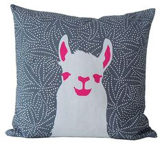 Sheer Llama Awesomeness==like this as a stamp!!!   we could easily to this stencil!!!  This pillow is great!