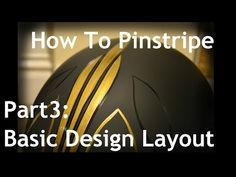 Cambridge Pinstriping, Tutorial - Part 3, Basic Design Layout, How to pinstripe. - YouTube