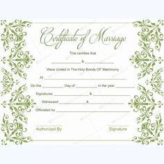 Certificate Templates Microsoft Word Stunning Editable Marriage Certificate #marriage #certificate #template #card .