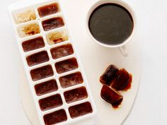 New Uses for Ice Cube Trays - No more watery iced coffee when you use ice cubes made from yesterday's brew.
