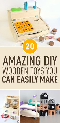 If you'd like to make unique and plastic-free toys for your kid or toddler but not quite sure how to do it there is a plenty of amazing tutorials and ideas online that you can use. From push vehicles and balloon-powered boats to puzzles for toddlers Wooden Toys For Toddlers, Puzzles For Toddlers, Unique Toys For Toddlers, Diy Educational Toys For Toddlers, Diy Kid Toys, Diy Projects For Kids, Diy For Kids, Wooden Crafts, Wooden Diy