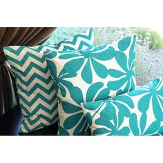 Turquoise Decorative Throw Pillows
