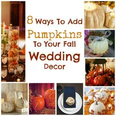 8 Ways to Add Pumpkins To Your Fall Wedding Decor