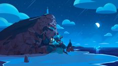 """""""Steven Universe Future"""" Background Painted by Charles Hilton. Background Drawing, Cartoon Background, Paint Background, Animation Background, Steven Universe Wallpaper, Steven Universe Background, Mac Wallpaper, Computer Wallpaper, Mac Backgrounds"""