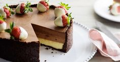 You won't regret putting aside some time to make this decadent triple chocolate cheesecake.