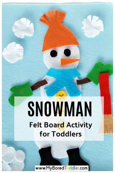 Snowman felt board activity for toddlers - a fun fine motor Winter or Christmas themed toddler activity idea - easy to set up and makes a great busy bag too. Quiet Time Activities, Christmas Activities, Winter Activities, Preschool Activities, Indoor Activities, Family Activities, Preschool Classroom, Christmas Crafts, Felt Snowman