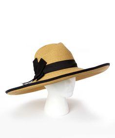 Love this Tan Modern Bow UPF 50+ Sunhat on #zulily! #zulilyfinds