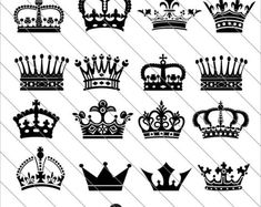 Royal Crown Silhouettes SVG, crown silhouettes clipart,Royal Crown svg Cut File,DXF,PNG Use with Sil Crown Tattoos For Women, King Crown Tattoo, Crown Tattoo Design, Queen Tattoo, Tattoos For Guys, Crown Hand Tattoo, Crown Drawing, Crown Art, Crown Outline