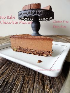 No Bake Vegan Ultimate Chocolate Mousse with Agar Agar | Raw Recipes | Healthy Desserts | Gluten Free | Food For Healthy Skin | Sugar Free Recipes | Nourish & Adore