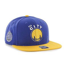 best service 68f28 3082d Golden State Warriors 47 Brand Blue Gold Sure Shot Adjustable Snapback Hat  Cap