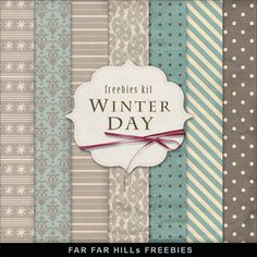Far Far Hill: Freebies Winter Backgrounds