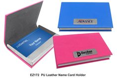 Leather name card holder