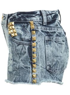 PROJECT Studded Acid Wash Short