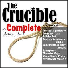 THE CRUCIBLE: Unit Activity *BUNDLE*!!!
