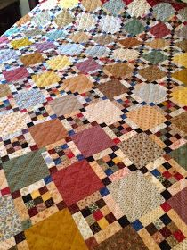 Colorful version of Long Road Home quilt, pattern is by Bonnie Blue Quilts