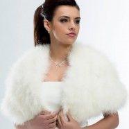 Cape mariée plume de marabout Ilaria