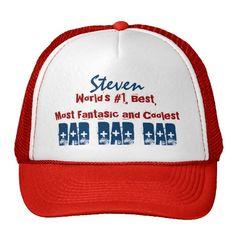 World's Number 1 Best Coolest Dad Custom Name Ver2 Hat