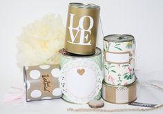 Wedding Cans  Autodosen zur Hochzeit mit Pompom von deborina030