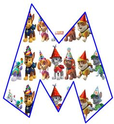 Personajes Paw Patrol, Paw Patrol Decorations, Blogger Templates, Advent Calendar, Playing Cards, Holiday Decor, Alphabet, Paw Patrol, Advent Calenders