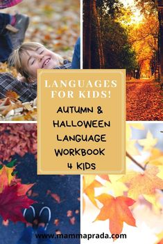 Are your children learning languages? Are you raising bilingual or multilingual children? Download our brilliant Autumn language activity book adaptable to any combination of languages. Content includes Halloween and Fall / Autumn themes. #bilingualkids #autumnactivity #halloweenactivity #bilingual Halloween Activities, Autumn Activities, Book Activities, Language Activities, Autumn Theme, Business For Kids, Foreign Languages, Fall Halloween, Kids Learning