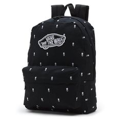 847427151 The Realm Backpack is a cotton backpack with polyester trim. Measuring L x W  x D inches, it features a zippered main compartment, a…