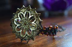Mandala & Beaded Macramé Hemp Bracelet by TravelingSeven on Etsy