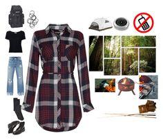 """Tartan and camping"" by rylock ❤ liked on Polyvore featuring 3x1, Frame, Jenni Kayne, Everest, Monki, VERONA and Landmann"