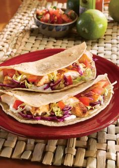 Simple Fish Tacos. Make your own restaurant-style fish tacos at home for a light and healthy dinner. #healthy #meal #eating #cooking