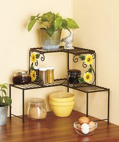 Perfect Sunflower Kitchen Collection Over The Sink Shelf Corner Shelf +  [sm303061 6KM7]