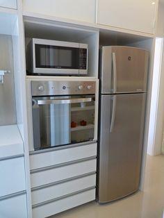 Cozinha torre de forno e microondas geladeira mdf - Armario para microondas ...