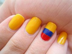 Bellyitch: 2014 #WorldCup #NailArt for Every Nation Competing #Colombia Nails