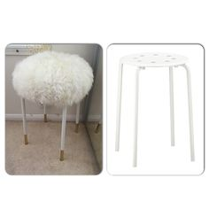 Ikea hack Marius stool! Love my new vanity chair