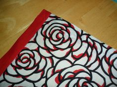 """Black and Red Rose """"Hooter Hider"""" with Red Tie on Etsy, $29.48"""