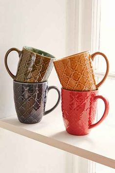 Embossed Mug Set + Stand - Urban Outfitters