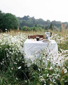 Amandine L & # Hyver / Blé Noir Studio / Kaffeepause in den Gänseblümchen - - Summer Pinterest, Elsie De Wolfe, Photo Images, Foto Art, Outdoor Dining, Outdoor Spaces, Outdoor Decor, Country Life, Outdoor Gardens